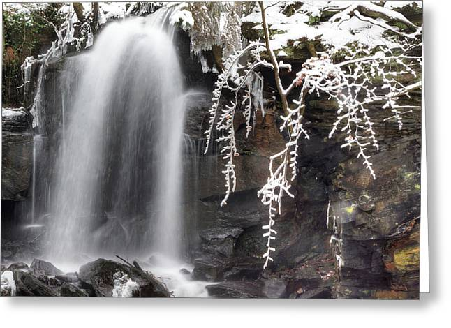 Cold Water Rush Greeting Card by David Birchall
