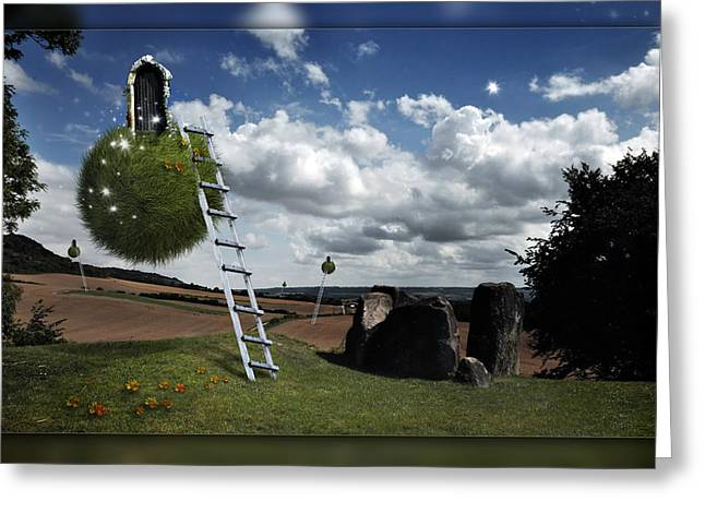 Greeting Card featuring the photograph Coldrum Longbarrow  by Mariusz Zawadzki