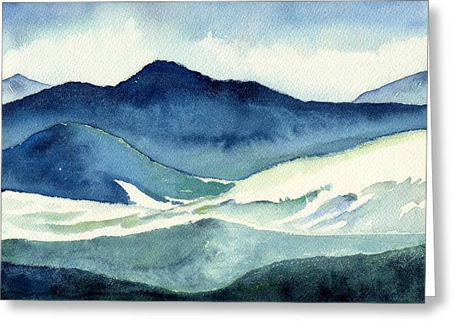 Coldscape Greeting Card by Katherine Miller