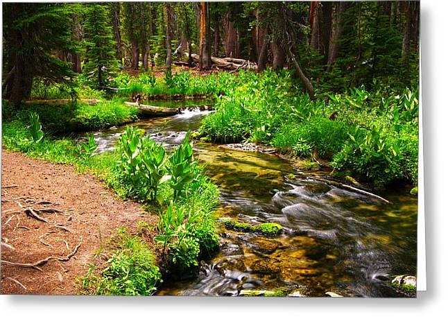 Coldwater Creek By Frank Lee Hawkins Greeting Card
