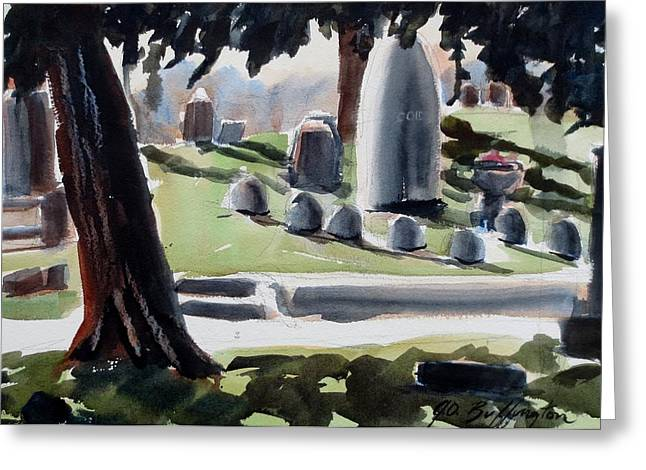 Cole Porter Burial Site Greeting Card
