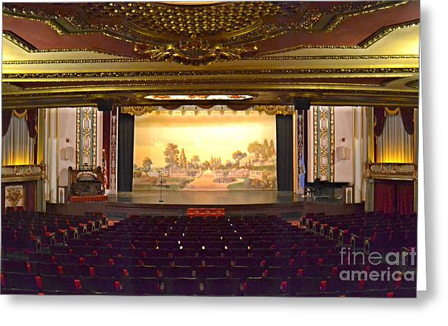 Greeting Card featuring the photograph Coleman Theatre by Utopia Concepts