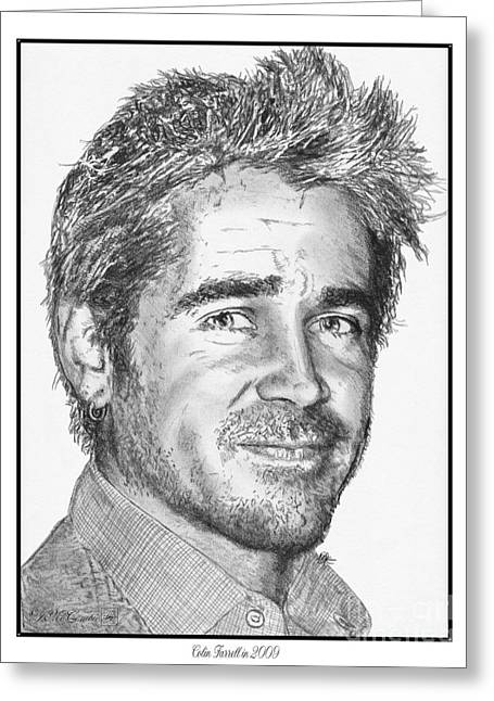 Colin Farrell In 2009 Greeting Card by J McCombie
