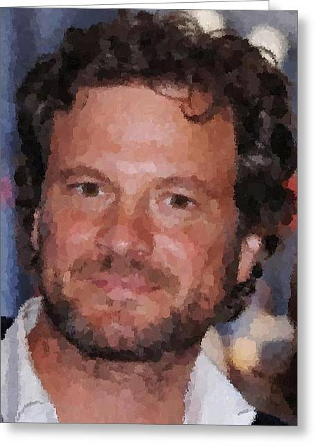 Colin Firth Portrait Greeting Card