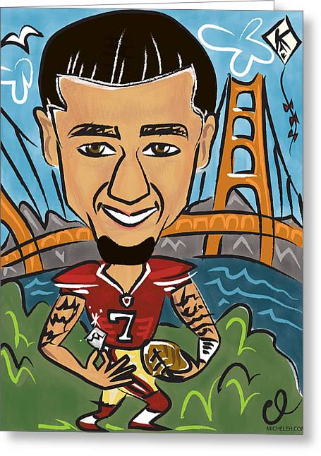 Colin Kaepernick - Achievement Greeting Card by Micheleh Center
