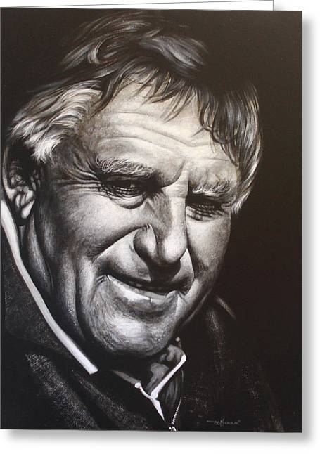 Colin Meads Greeting Card by Bruce McLachlan
