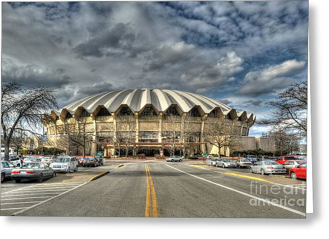 Coliseum Daylight Hdr Greeting Card by Dan Friend