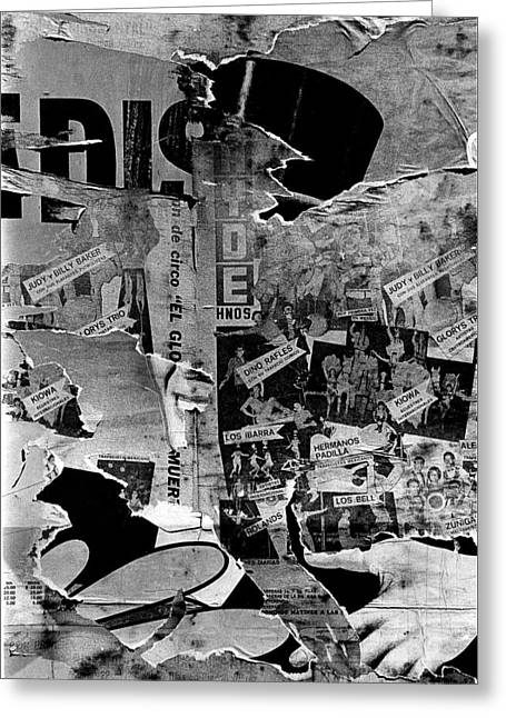 Collage Circus Acts Us Mexico Border Town Juarez Chihuahua Mexico 1968 Greeting Card by David Lee Guss