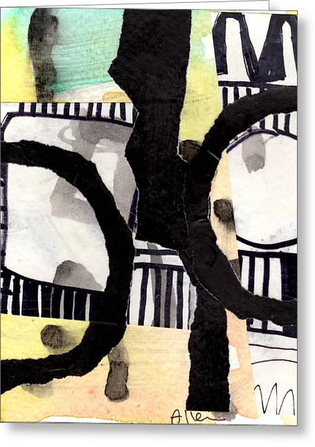 Collage Drawing Two Greeting Card by Richard Allen