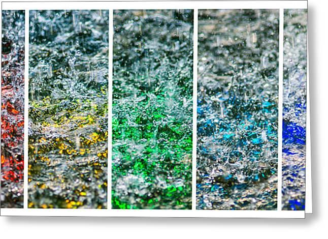 Collage Liquid Rainbow 1 - Featured 3 Greeting Card