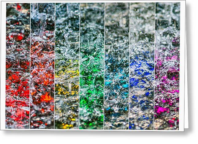 Collage Liquid Rainbow 2 - Featured 3 Greeting Card