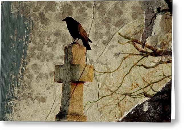 Collage Of Crow Greeting Card