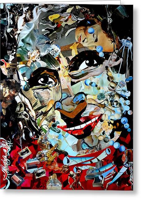 Collage Painting Gala Dali Greeting Card by Irina Bast