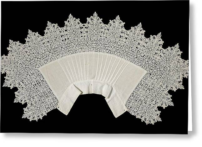 Collar Of Linen Trimmed With Reticella Needle Lace Greeting Card by Quint Lox