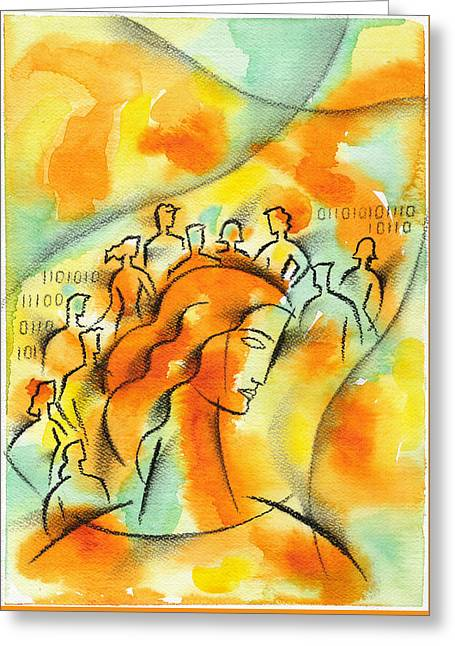 Colleague Greeting Card by Leon Zernitsky