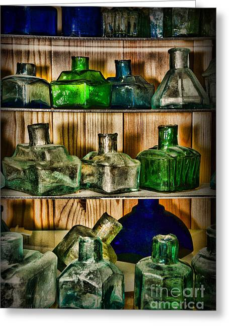 Collection - Ink Wells Greeting Card by Paul Ward