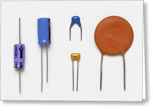 Collection Of Capacitors Greeting Card