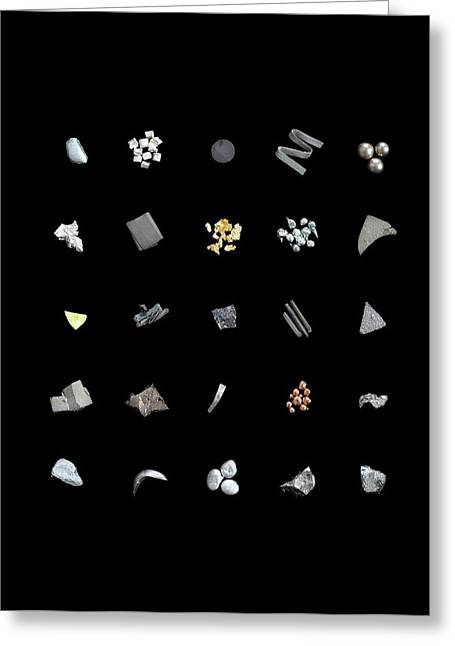 Collection Of Elements Greeting Card by Science Photo Library