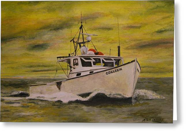 Greeting Card featuring the painting Colleen by Stan Tenney