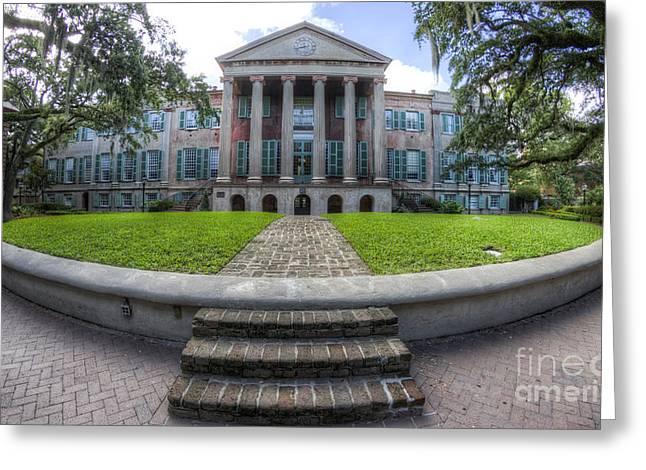 College Of Charleston Randolph Hall Cistern Greeting Card by Dustin K Ryan