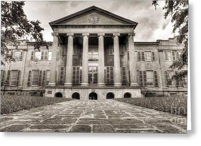 College Of Charleston Randolph Hall Sepia Greeting Card