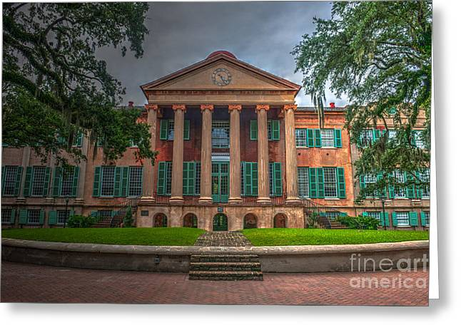 College Of Charleston Randolph Hall Greeting Card by Dale Powell