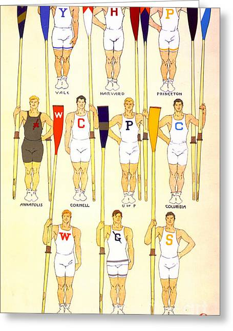 College Rowing Crews 1908 Greeting Card