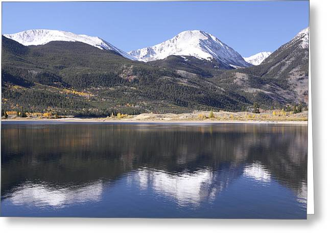 Collegiate Peaks Reflected Greeting Card