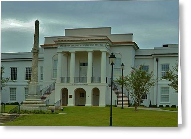 Colleton County Courthouse Greeting Card by Bob Sample