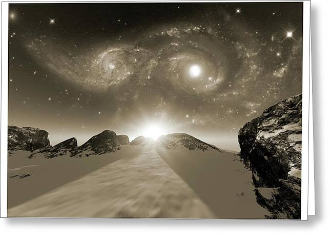 Colliding Galaxies Greeting Card by Detlev Van Ravenswaay