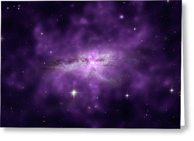 Colliding Spiral Galaxies Greeting Card by Nasa
