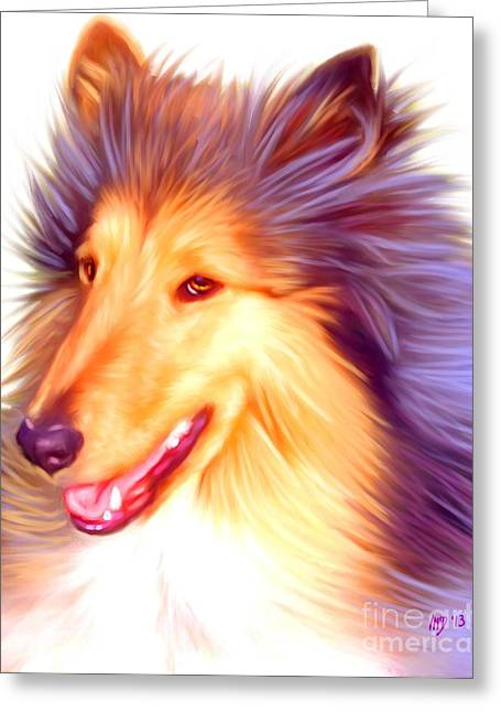Collie Art Work Greeting Card