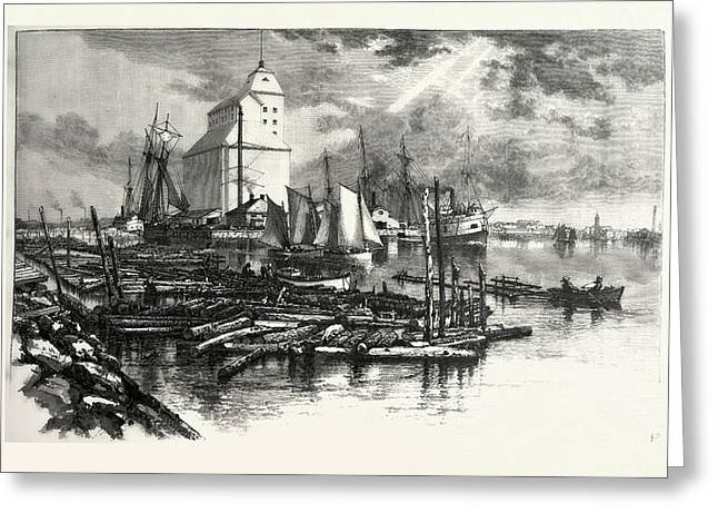 Collingwood Harbour, Canada Greeting Card