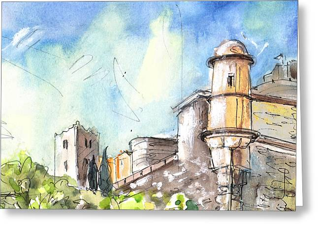 Collioure Castle Greeting Card by Miki De Goodaboom