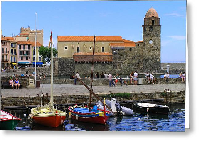 Collioure France Greeting Card by Dan Ault
