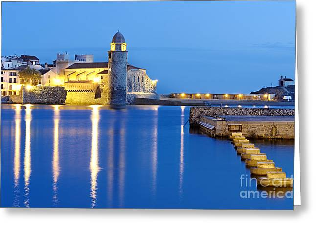 Collioure Harbour France Greeting Card