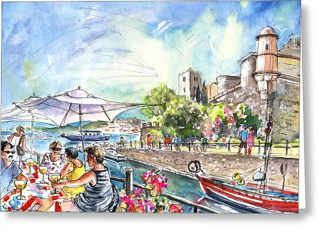 Collioure Harbour 02 Greeting Card by Miki De Goodaboom