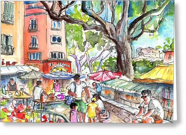 Collioure Market 02 Greeting Card by Miki De Goodaboom