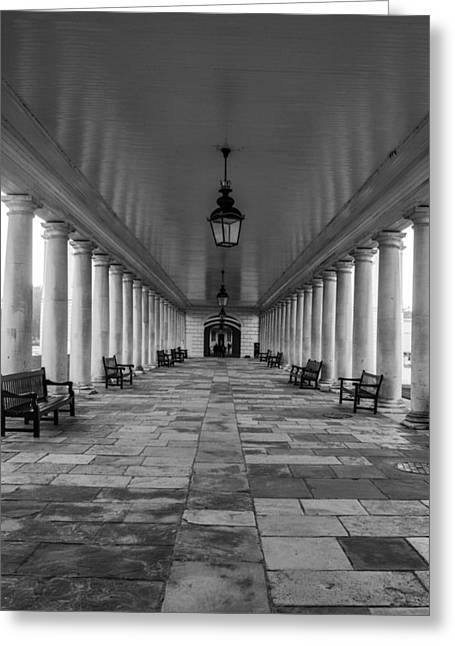 Columns Queens House Greenwich Greeting Card by Claire  Doherty