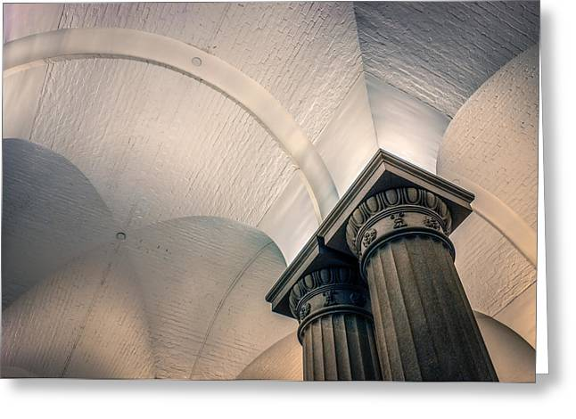 Greeting Card featuring the photograph Columns by Rob Sellers