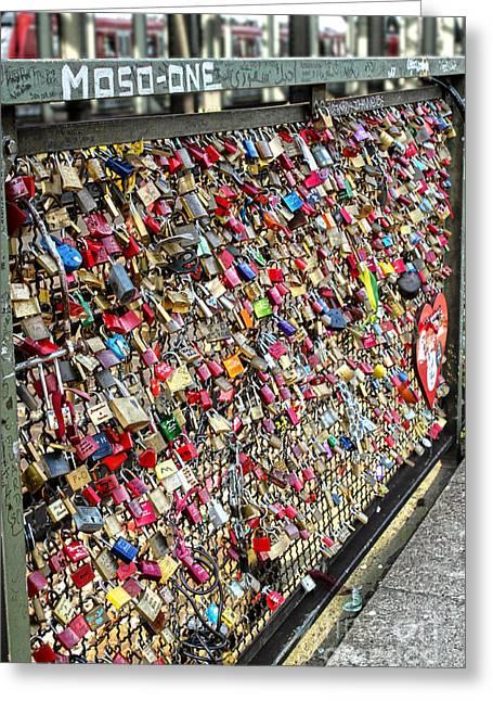Cologne - Hohenzollern Bridge - Gypsy Locks - 02 Greeting Card by Gregory Dyer
