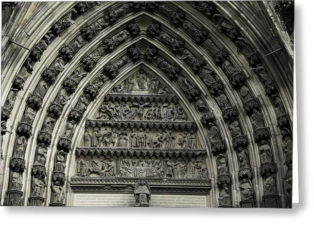 Cologne Cathedral Arch Greeting Card by Teresa Mucha