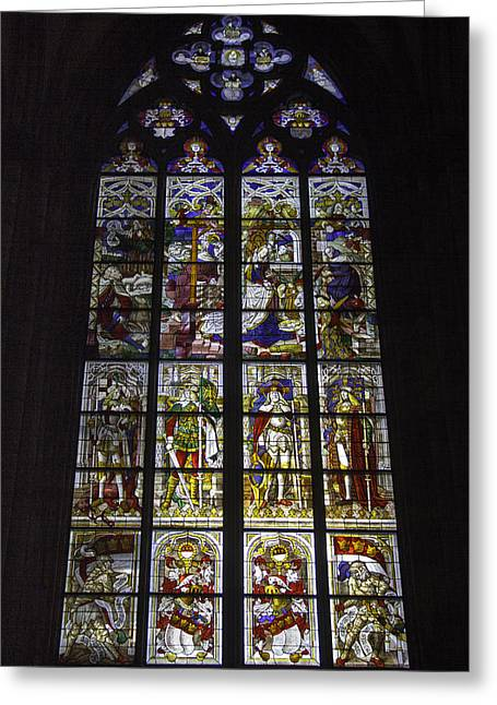 Cologne Cathedral Stained Glass Window Of The Nativity Greeting Card