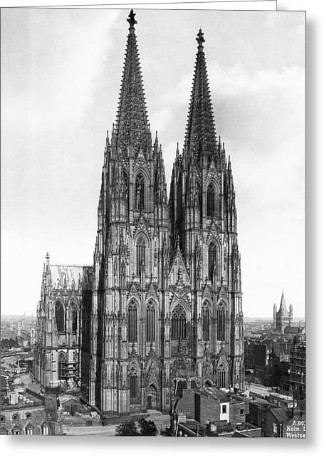 Cologne Cathedral Greeting Card by Underwood Archives