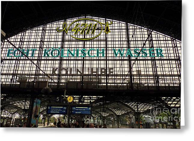 Cologne - Central Station - 4711 Greeting Card