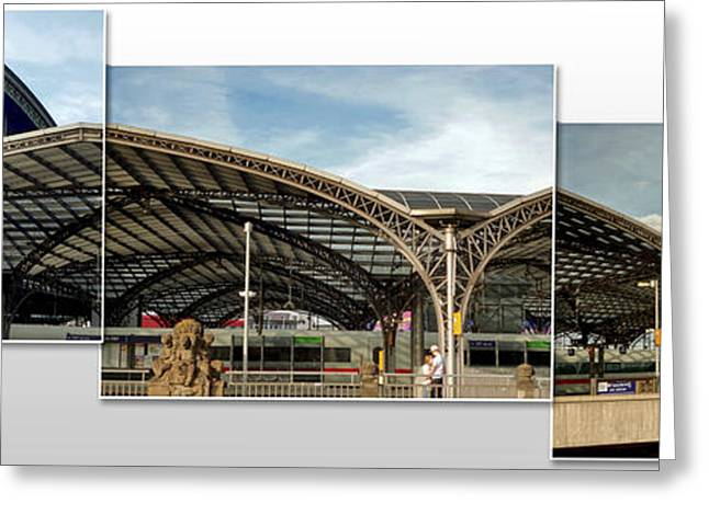 Cologne Central Train Station - Koln Hauptbahnhof - 02 Greeting Card by Gregory Dyer