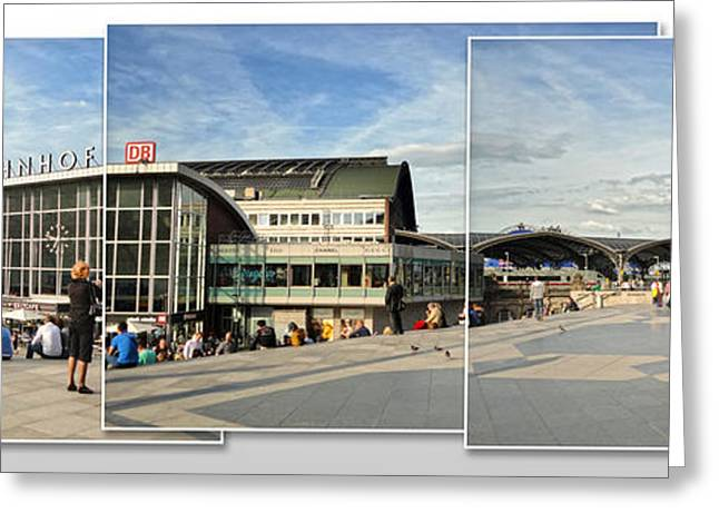 Cologne Central Train Station - Koln Hauptbahnhof - 01 Greeting Card by Gregory Dyer