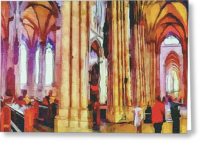 Cologne Dome Interior Greeting Card