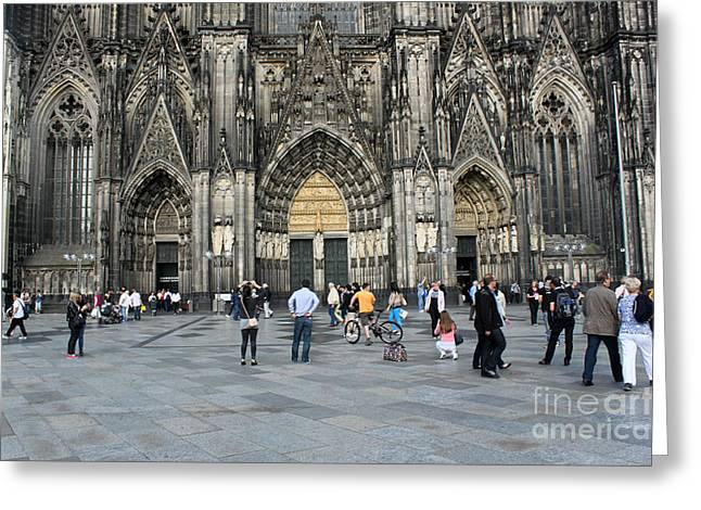 Cologne Germany - High Cathedral Of St. Peter - 17 Greeting Card by Gregory Dyer