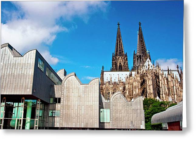 Cologne, Germany, Cologne Cathedral Greeting Card by Miva Stock